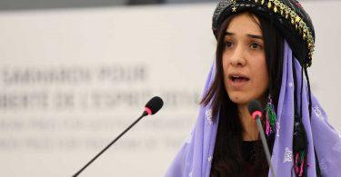 Nadia Murad riceve il Nobel per la pace