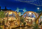 Coppa Club: mangiare in bolle riscaldate con vista sul Tower Bridge