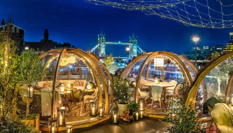 Coppa Club: mangiare in bolle riscaldate con vista sul Tower Bridge