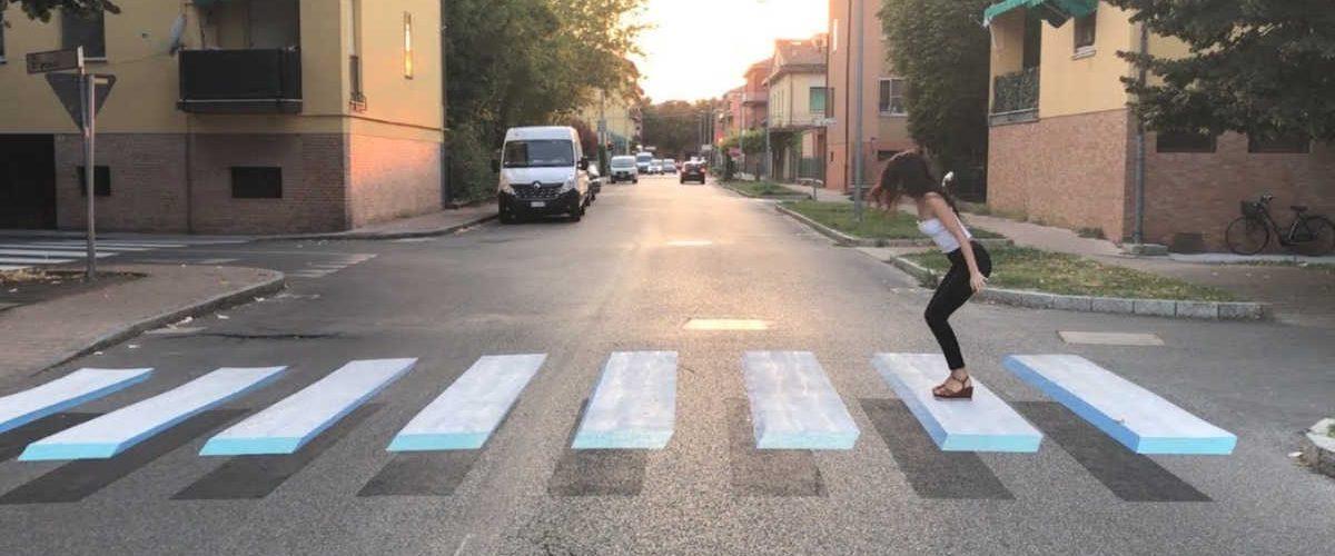 Trieste: strisce pedonali 3D per prevenire gli incidenti